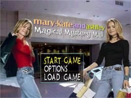 Title screen of Mary-Kate And Ashley: Magical Mystery Mall on the Sony Playstation.