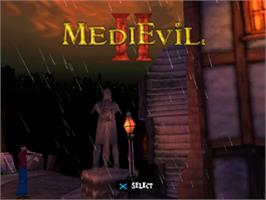 Title screen of MediEvil II on the Sony Playstation.