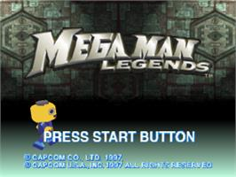 Title screen of Mega Man Legends on the Sony Playstation.
