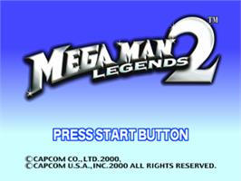 Title screen of Mega Man Legends 2 on the Sony Playstation.