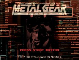 Title screen of Metal Gear Solid: The Essential Collection on the Sony Playstation.