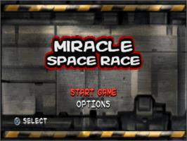 Title screen of Miracle Space Race on the Sony Playstation.
