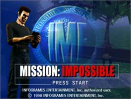 Title screen of Mission: Impossible on the Sony Playstation.