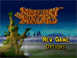 Title screen of Monkey Magic on the Sony Playstation.