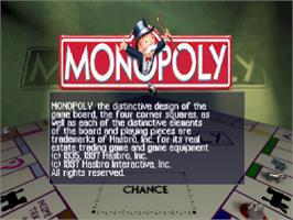 Title screen of Monopoly on the Sony Playstation.