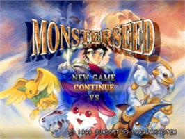 Title screen of Monster Seed on the Sony Playstation.