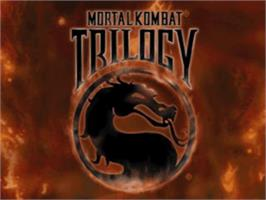 Title screen of Mortal Kombat Trilogy on the Sony Playstation.