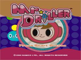 Title screen of Mr. Driller on the Sony Playstation.