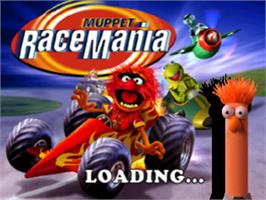 Title screen of Muppet RaceMania on the Sony Playstation.