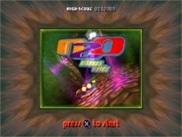 Title screen of N2O Nitrous Oxide on the Sony Playstation.