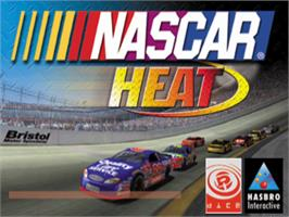 Title screen of NASCAR Heat on the Sony Playstation.