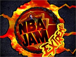 Title screen of NBA Jam Extreme on the Sony Playstation.