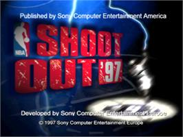 Title screen of NBA Shootout '97 on the Sony Playstation.