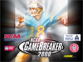 Title screen of NCAA GameBreaker 2000 on the Sony Playstation.