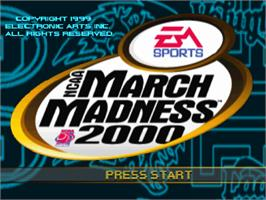 Title screen of NCAA March Madness 2000 on the Sony Playstation.