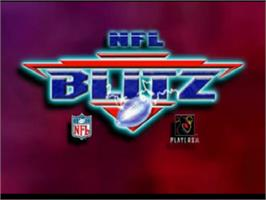 Title screen of NFL Blitz on the Sony Playstation.