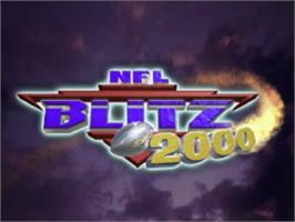 Title screen of NFL Blitz 2000 on the Sony Playstation.
