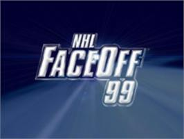 Title screen of NHL FaceOff '99 on the Sony Playstation.