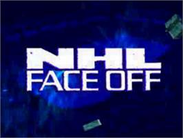 Title screen of NHL FaceOff on the Sony Playstation.