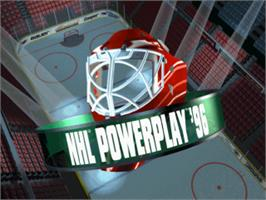 Title screen of NHL Powerplay '96 on the Sony Playstation.