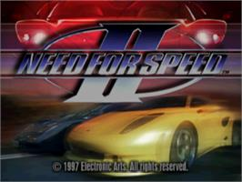Title screen of Need for Speed II on the Sony Playstation.