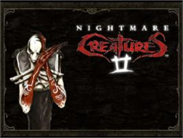 Title screen of Nightmare Creatures II on the Sony Playstation.