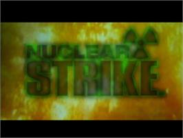 Title screen of Nuclear Strike on the Sony Playstation.