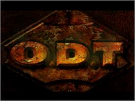 Title screen of O.D.T. - Escape... Or Die Trying on the Sony Playstation.