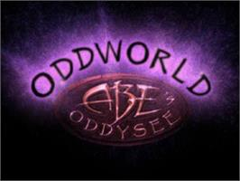 Title screen of Oddworld: Abe's Oddysee on the Sony Playstation.