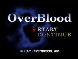 Title screen of OverBlood on the Sony Playstation.