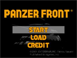 Title screen of Panzer Front on the Sony Playstation.