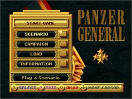 Title screen of Panzer General on the Sony Playstation.