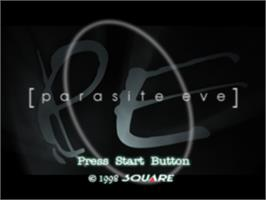 Title screen of Parasite Eve on the Sony Playstation.