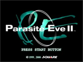 Title screen of Parasite Eve II on the Sony Playstation.