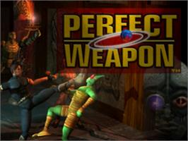 Title screen of Perfect Weapon on the Sony Playstation.