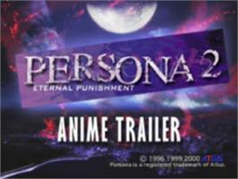 Title screen of Persona 2: Eternal Punishment on the Sony Playstation.