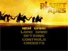Title screen of Planet of the Apes on the Sony Playstation.