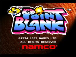 Title screen of Point Blank on the Sony Playstation.