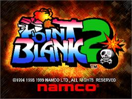 Title screen of Point Blank 2 on the Sony Playstation.