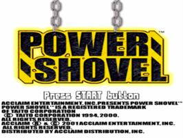 Title screen of Power Shovel on the Sony Playstation.