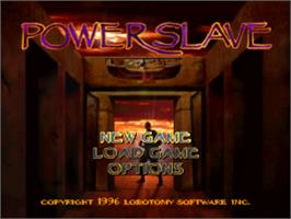 Title screen of Powerslave on the Sony Playstation.