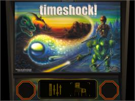 Title screen of Pro Pinball: Timeshock! on the Sony Playstation.