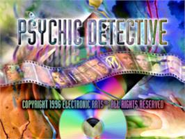 Title screen of Psychic Detective on the Sony Playstation.