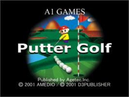 Title screen of Putter Golf on the Sony Playstation.