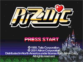 Title screen of Puzznic on the Sony Playstation.