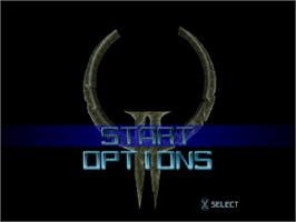 Title screen of Quake II on the Sony Playstation.