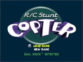 Title screen of R/C Stunt Copter on the Sony Playstation.