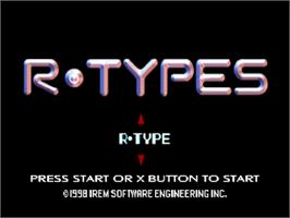 Title screen of R-Types on the Sony Playstation.