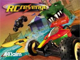 Title screen of RC Revenge on the Sony Playstation.