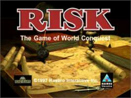 Title screen of RISK: The Game of Global Domination on the Sony Playstation.